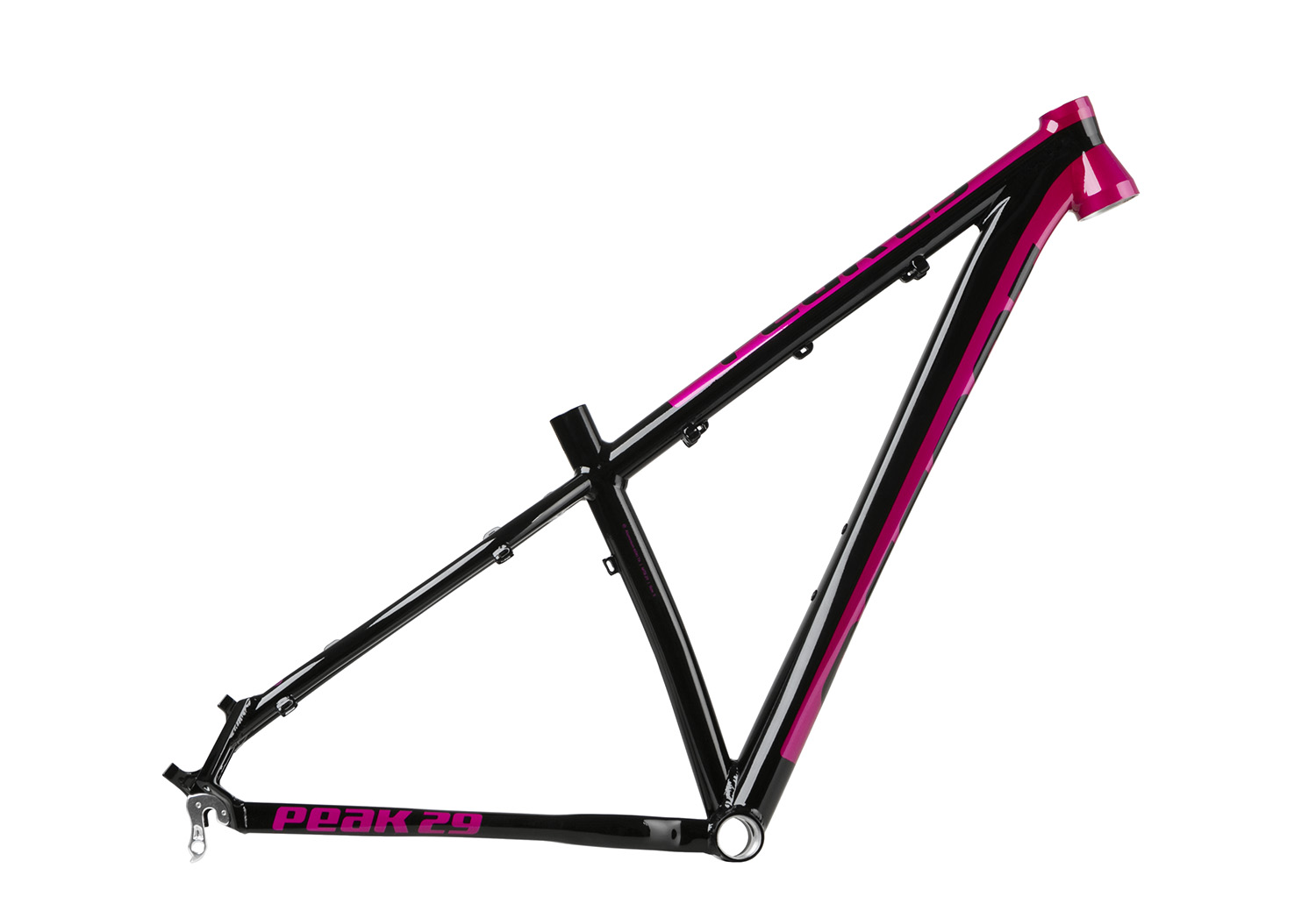 accent frame peak lady 29 black pink